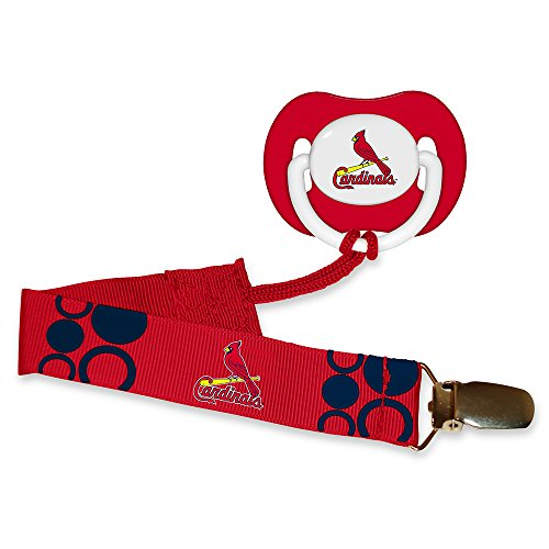 Baby Fanatic Pacifier with Clip - St Louis Cardinals