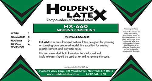 HX-660 Natural Liquid Latex Mold Making Rubber Gallon (5 Gallon Pail) (Fiberglass Resin 5 Gallon compare prices)