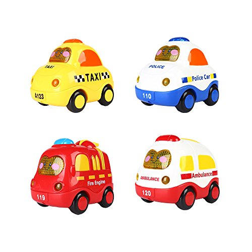 SainSmart-Jr-4-Set-Push-and-Go-Mini-Car-Friction-Powered-Screen-Button-for-Light-and-Music-Police-Car-Fire-truck-Ambulance-Taxi