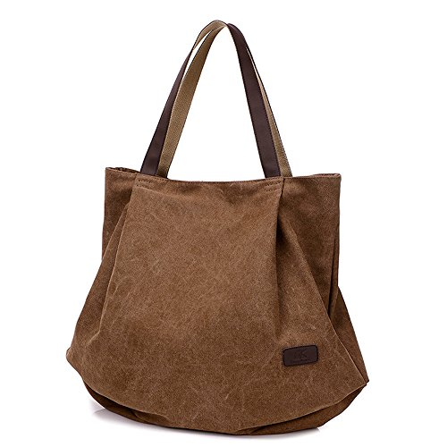 BYD - Donna Large School Bag Borse Tote Bag Shopping Bag Canvas Bag Colore puro Borse a mano