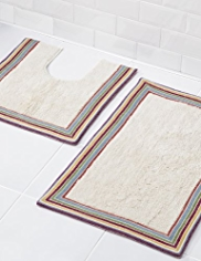 Border Striped Bath & Pedestal Mats