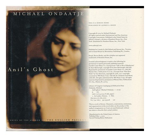 anilís ghost by michael ondaatje essay The politics of caste-gender nexus and the dalit feminist response: reading three dalit women writers.