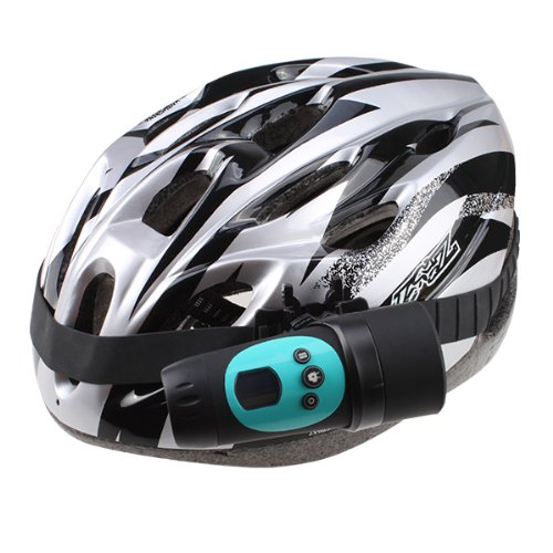 Agptek® Hd 720P 1.3Mp Cmos Waterproof Outdoor Sport Bike Helmet Action Camera Cam Dvr Built-In Microphone Blue Color And New Mens Bicycle Helmet Bike Cycling Adult Ultra-Light Visor Pvc Eps Black With Silver (Ce Certificated)