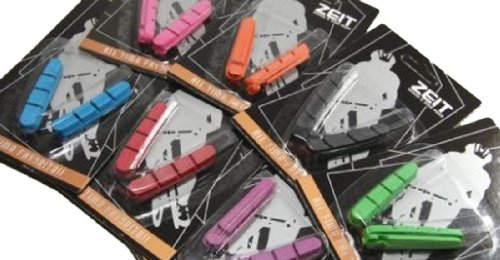 Image of One Pack of Shimano Dura Ace Replacement Road Bike Brake Pads, Orange,green,blue,purple (B006W5H6JK)