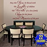 May This Home Be Blessed v3 - Wall Decal Sticker Quote lounge living room bedroom