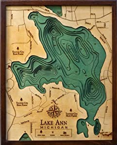 Lake Ann Topographic Map by Woodchart