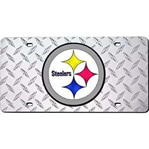 Pittsburgh Steelers Laser Engraved License Plate from RICO Industries