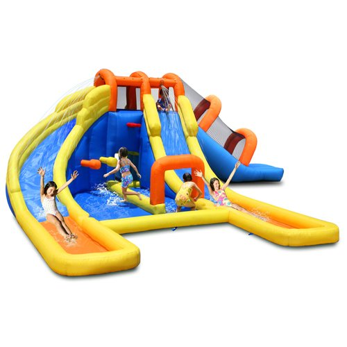 Kidwise Super Tunnel Slide Waterpark - Inflatable Water Slide front-403326
