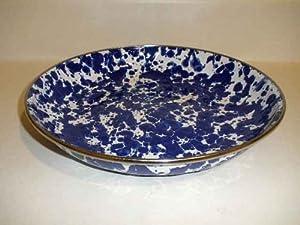 Golden Rabbit Cobalt Blue Swirl Deep Pasta Plate