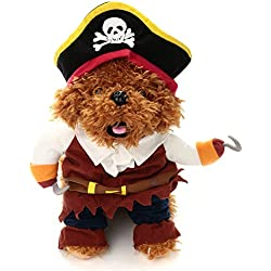 Bluecookies Pirate Pet Costume Clothes for Dogs Cats Small Medium Large XL