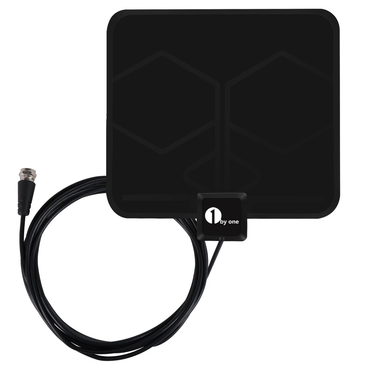 HDTV Antenna, 1byone Super Thin Digital Indoor HDTV Antenna - 25 Miles Range with 10ft High Performance Coax Cable, Extremely Soft Design and Lightweight