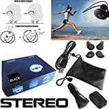 Avtak Black Jogger Wireless Stereo Bluetooth Headset with built-in Mic for all Samsung phones with Free Wall and Car Charger. Galaxy S4 Galaxy S4 mini Galaxy S3 Galaxy S2 Galaxy Active Core Trend Galaxy Exhibit Mega Win Note Galaxy Tab Galaxy Pocket Star Rex Metro Ativ Metro E2202 and more