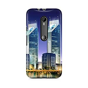 Motivatebox - Moto X Style Back Cover - Twin Tower Polycarbonate 3D Hard case protective back cover. Premium Quality designer Printed 3D Matte finish hard case back cover.