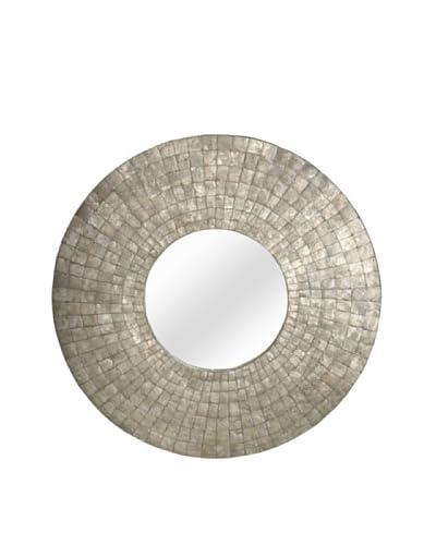 Jeffan Cameron Round Mirror, Silver, Large