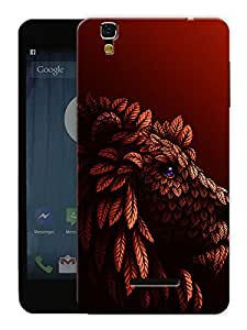 "Humor Gang Lion Red Printed Designer Mobile Back Cover For ""Yu Yureka Plus"" (3D, Matte, Premium Quality Snap On Case)"