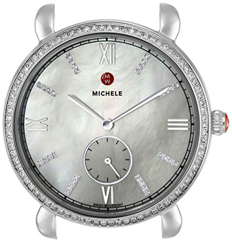 MICHELE-Womens-MW26A01A1046-Gracile-Analog-Display-Swiss-Quartz-Silver-Watch