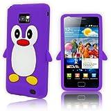 Tinkerbell Trinkets� LILA Samsung Galaxy S2 i9100 Pinguin niedlichen Tier Silikonh�lle Shell Besch�tzer Handy Smartphone Zubeh�r