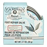 J.R. Watkins Natural Foot Repair Salve, Peppermint, 2.1 Ounce