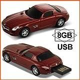AUTODRIVE オートドライブ USBフラッシュメモリー Mercedes Benz SLS AMG メルセデス ベンツ SLS AMG レッド USBメモリ 8GB