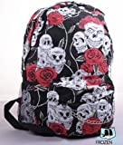 Skull & Roses Backpack Gothic Bag College / Travel / Leisure bag /