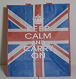 Keep Calm and Carry On Union Jack Reusable Shopping Bag