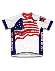 Bikini Atoll Flag Short Sleeve Cycling Jersey for Women
