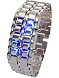 Iron Samurai Black Bracelet LED Japanese Inspired Watch - Fashion Cool Style LED Watches for Men