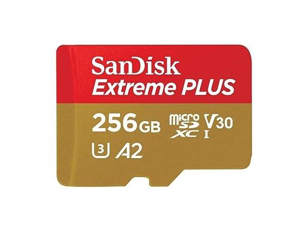 SanDisk Extreme Plus 256GB microSDXC Card with Adapter UHS-I, U3, A2, V30 - SDSQXBZ-256G-ANCMA (Tamaño: 256GB)
