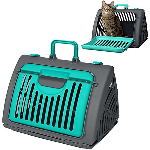 New Arrival Pet Travel Carrier – ANG ® Foldable Portable Light and Sturdy Cat Travel Carrier Pet Carrier Small Dog Carrier (Green)