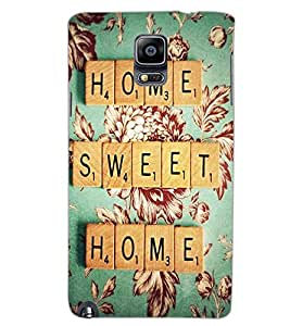 SAMSUNG GALAXY NOTE 3 HOME SWEET HOME Back Cover by PRINTSWAG