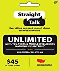 Straight Talk $45 30 Days Unlimited Reserve Refill Top-Up Card (Mail Delivery)