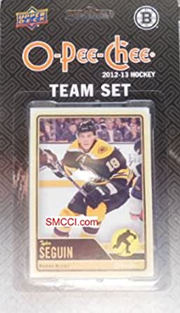Boston Bruins 2012 / 2013 O Pee Chee Hockey Brand New Factory Sealed 17 Card Team Set Made By Upper Deck