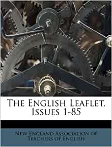 The English Leaflet Issues 1 85 New England Association