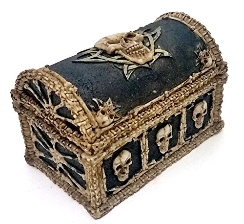 Cool Skull & Bones Ossuary Trinket Box Jewelry Stas (Pirate Containers compare prices)