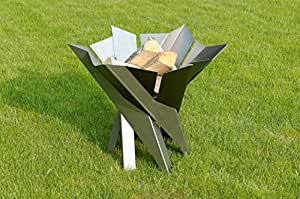 Steel fire pit phoenix flower contemporary design for Amazon prime fire pit
