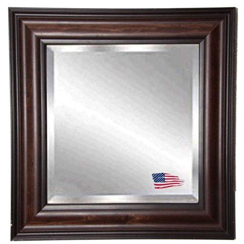 American Made Rayne Missouri Walnut Beveled Wall Mirror, 40.5 X 34.5 front-449387