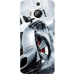 Casotec Drift Sport Print Design Hard Back Case Cover for HTC One M9 Plus