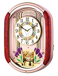 New Haven Tulip Melodies In Motion Wall Clock