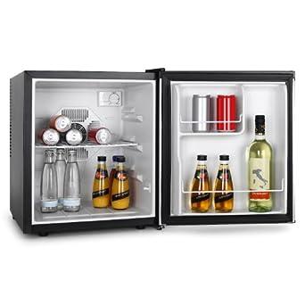 VOV VRF-48SS Mini Getränke-Kühlschrank-Minibar kompakt (48L, EEK B, leise) schwarz-silber