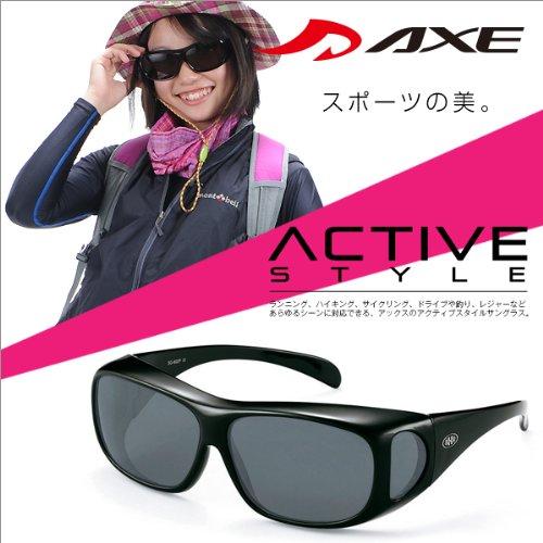 人気サングラスブランドAXEのメガネ対応偏光オーバーサングラス オーバーグラス SG 602P GM 花粉対策 釣り ジョギング マラソン 自転車 ファッション ドライブ 運転 メンズ レディース サングラス