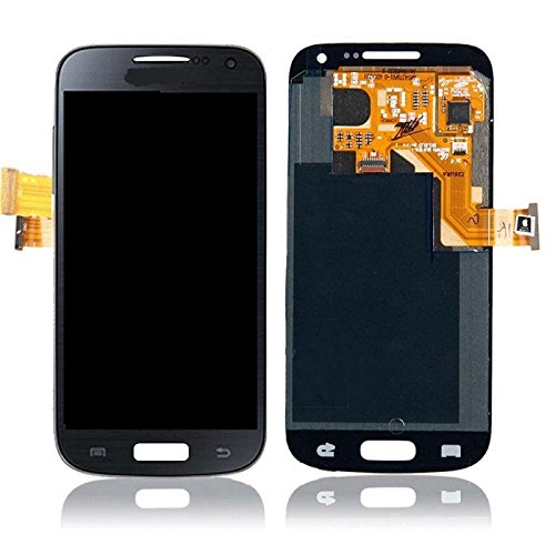 New Oem Black/Pebble Blue Full Front Housing Lcds Display + Touch Screen Glass Digitizer Assembly Replacement Repair Part For Samsung Galaxy S4 Mini I9190 I9192 I9195, Dhl Shipping