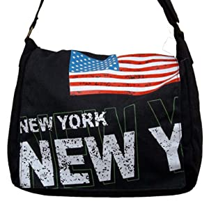 Sac besace en tissus drapeau americain new york bagages - Tissu imprime new york ...