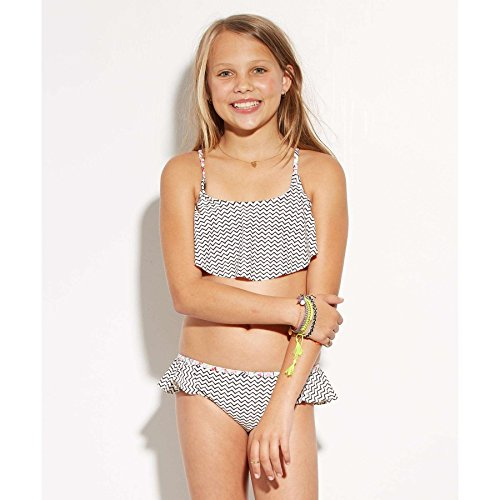 Billabong Little Girls Gee Geo Flutter Swim Set, Black Sands, 5