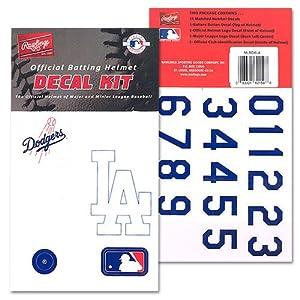 Baseball Softball Batting Helmet MLB Decal Kit (Includes Official Team Logos... by Rawlings