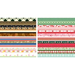 Martha Stewart Crafts Holiday Border Pad, 12 Sheets, 6 by 12 Inches