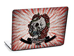 3M clickforsign 'Official' Skull With Gun And Roses Laptop Skin / Decals EG-0329