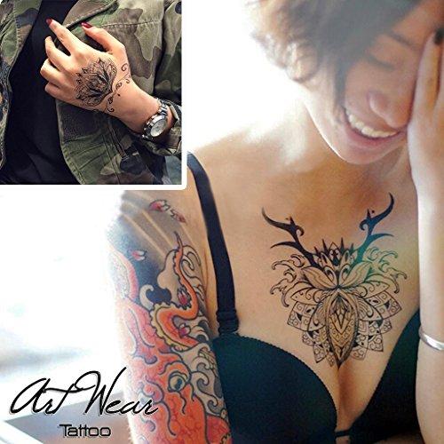 tatuaggio-temporaneo-realistico-di-artista-2-sanskrit-lotus-flowers-artwear-tattoo-b0110-m