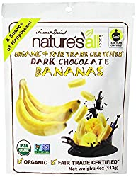 Nature's All Freeze Dried Dark Chocolate Bananas, 4 Ounce