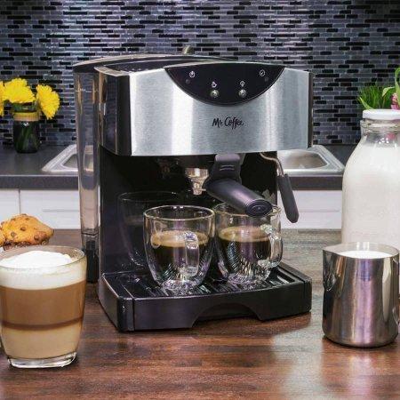 Mr. Coffee Pump Espresso Machine, Advanced Filter Design For Optimal Pressure byMr. Coffee (Mr Coffee 40 Oz compare prices)