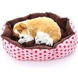 Masione Pet Bed Dog Puppy Cat Soft Cotton Fleece Warm Nest House Mat (Pink)